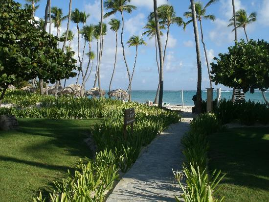 Grand Palladium Punta Cana Resort & Spa: Der weg zum Strand