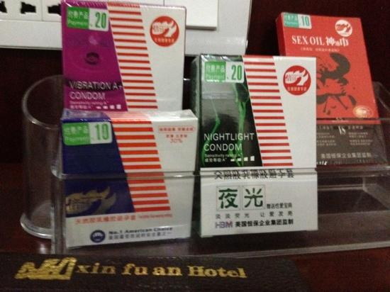 New Li River Hotel (Pantao Road): for sale in the students room.