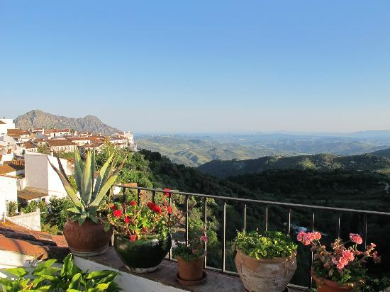 La Fructuosa: view from the terrace towards Gibraltar and Morocco