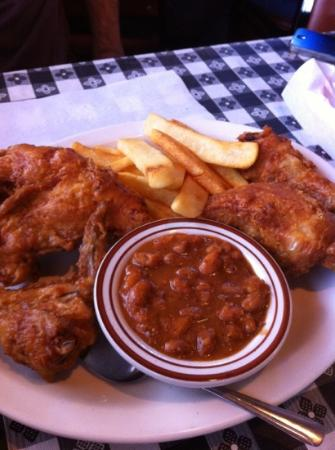 Fried Chicken Dinner Picture Of Rudy S Jr Chicken Man
