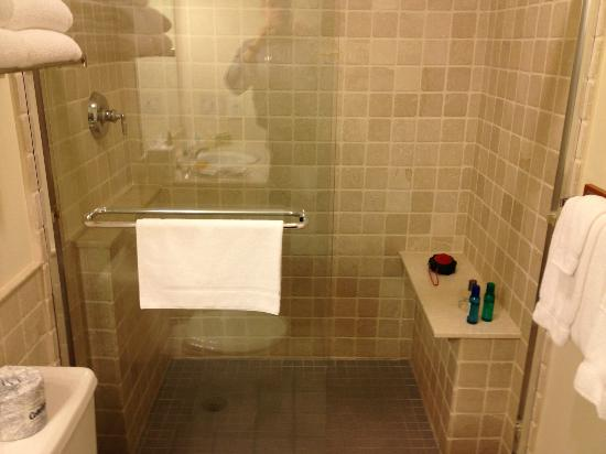 Hampton Maid: Decent size bathroom, stall shower