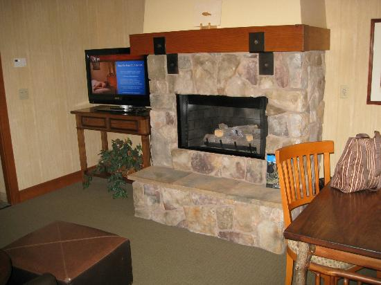Sunriver Resort: In-room fireplace worked fine.