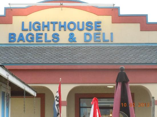 Lighthouse Bagels and Deli: outside