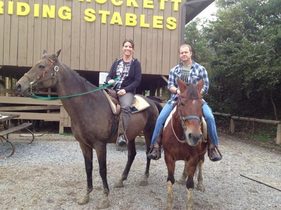 Davy Crockett Riding Stables : After the ride Oct 2012