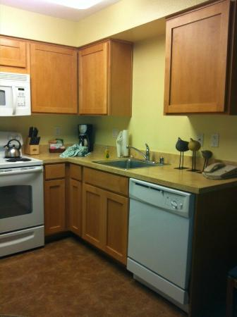 WorldMark San Diego - Mission Valley: Kitchen area...clean and well stocked