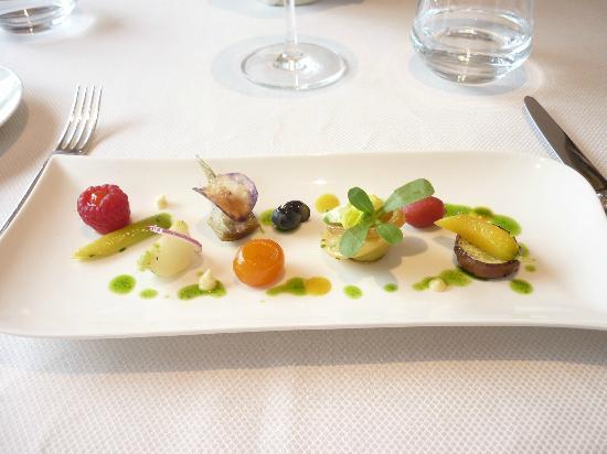 Hotel Imperial Garoupe : Petits légumes cuits à la minute