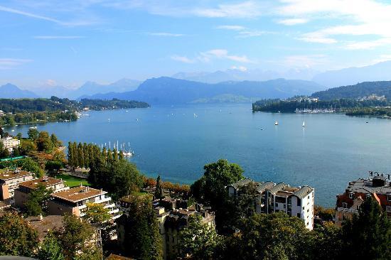 Art Deco Hotel Montana Luzern : Lake view room is magic