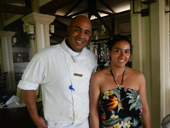 Sugar Beach Golf & Spa Resort : Chef at Citronella's
