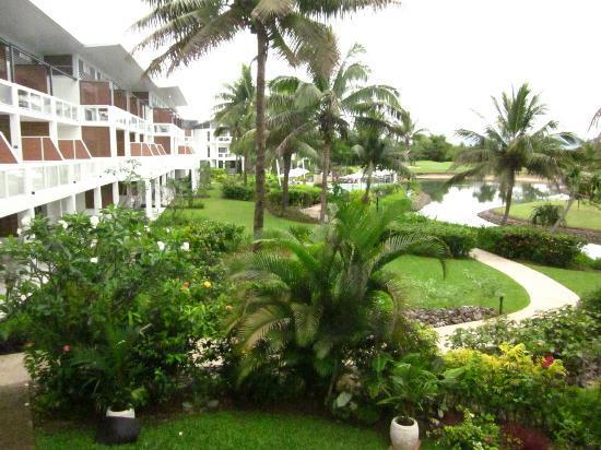 The Terraces Apartments Denarau: view from balcony towards pool