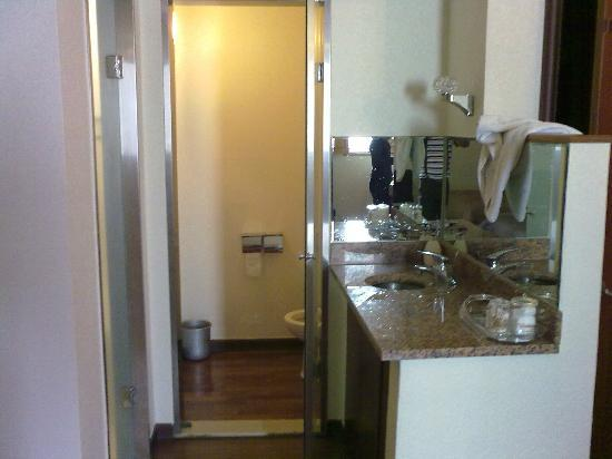 Hotel Queen Incheon Airport: Separate Toilet door and sink counter