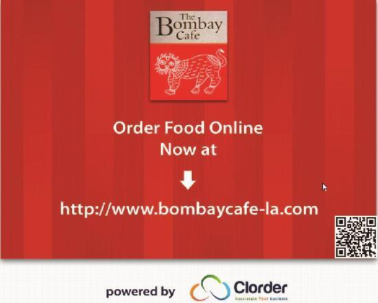 Bombay Cafe: Order Health Indian Food from our website - Powered By Clorder