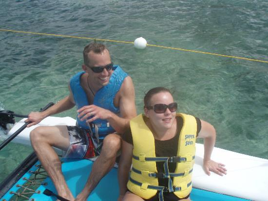 Secrets St. James Montego Bay: jon learning how to sail