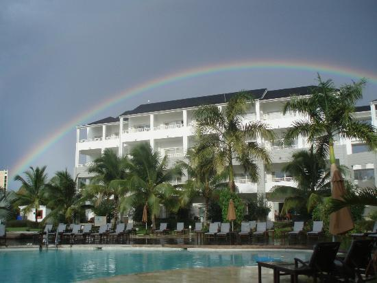 Secrets St. James Montego Bay: Rainbow over our resort