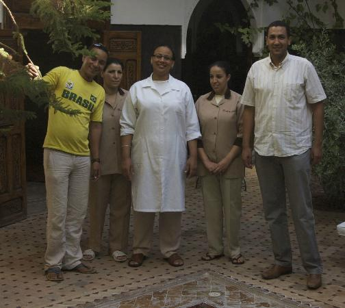 The wonderful staff at Riad Kasbah