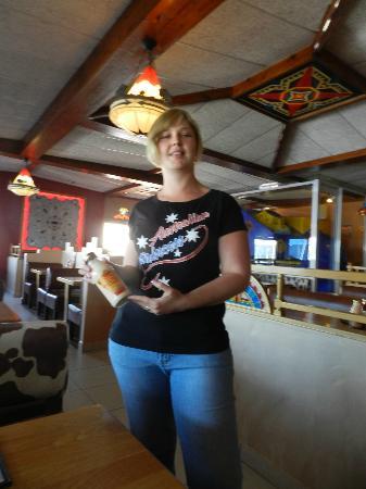 Falcon Creek Spur Steak Ranch: An Australian Princess with the yummy pink sauce