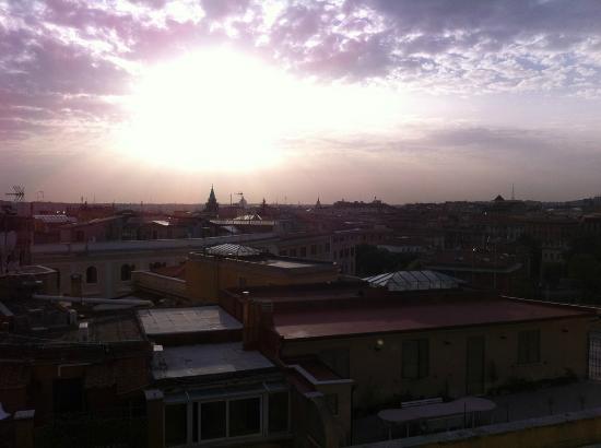 Marcella Royal Hotel: Vue de la terrasse panoramique, au petit déjeuner