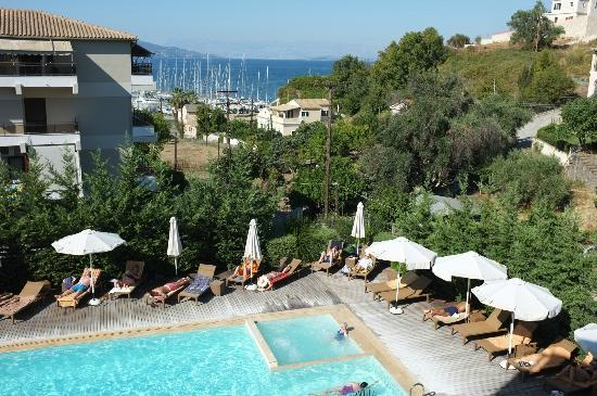 Corfu Mare Boutique Hotel: View from our Balcony