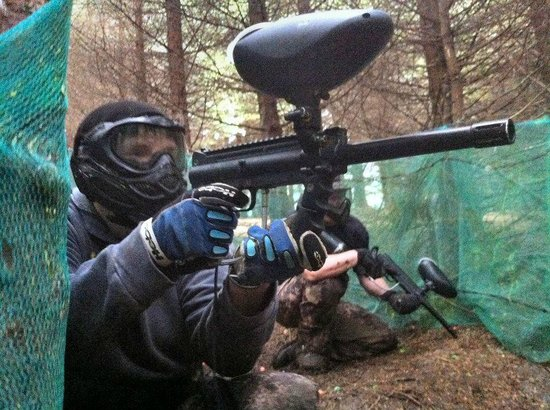 Rebellion Paintball: Me and a friend at the site