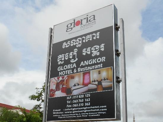 Gloria Angkor Hotel: Signage