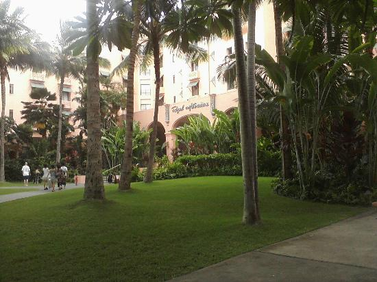 The Royal Hawaiian, a Luxury Collection Resort: Coconut Grove and loggia.