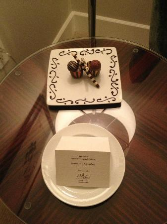 Mandarin Oriental, Atlanta: Welcome chocolates