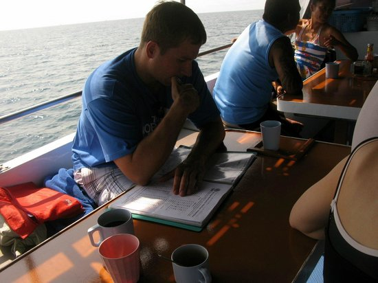 Phuket Dive Tours: Hard at work...