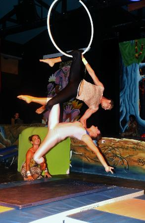 Club Med La Plantation d'Albion: Entertainment at night, sircus show