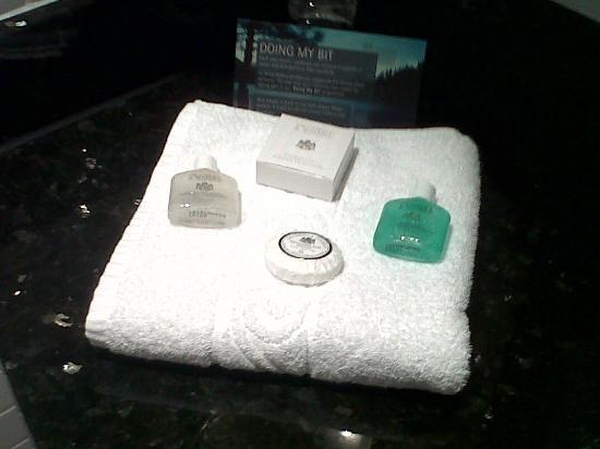 Arora Hotel Manchester: Free toiletries