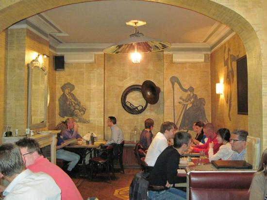Inside Serenata restaurant