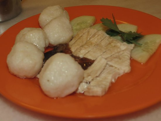 EeJiBan Chicken Rice Ball Halal: A single set of rice balls with meat
