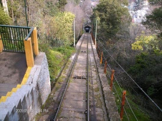 Cerro San Cristobal: en el funicular