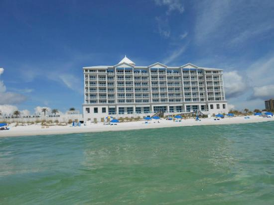 Margaritaville Beach Hotel : From the gulf while swimming