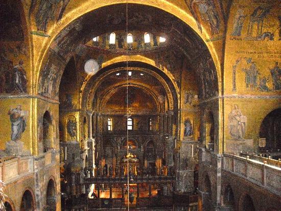 Interno Dalla Galleria Foto Di Basilica Di San Marco