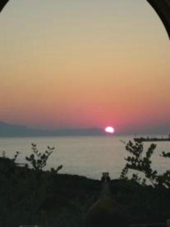 Giorgi's Blue Apartments: One of the many breathtaking sunsets