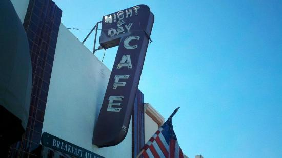 Night & Day Cafe: Sign out front