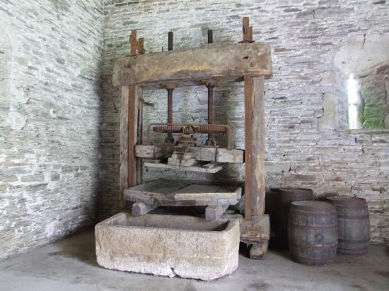 Buckland Abbey: An old press as was used by the resident monks