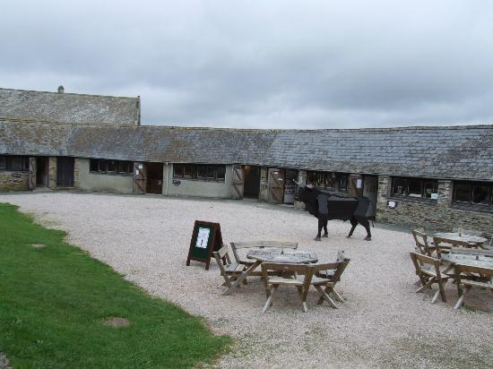 Buckland Abbey: The craft centre at Buckland