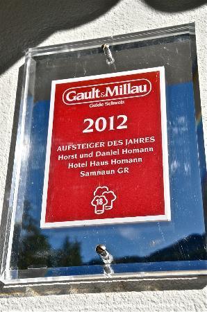 Hotel Haus Homann : Gault Millau Auszeichnung für die Küche