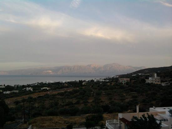 Elounda Residence: view from restaurant terrace