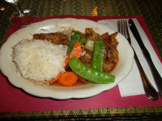 Thai Place Restaurant: Tamarind Duck dinner
