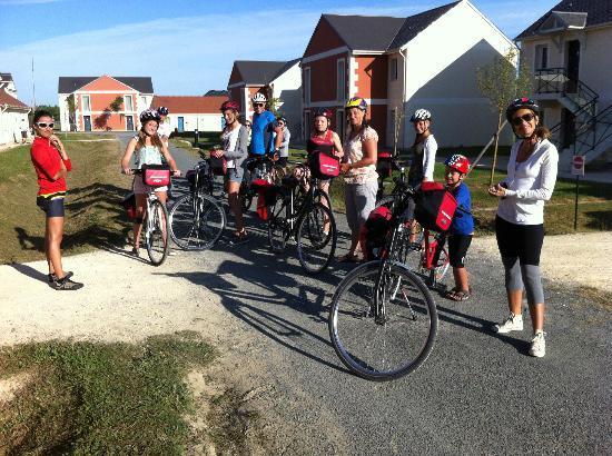 Villa Bellagio Amboise: La mattina alla partenza della pedalata a Chenonceau