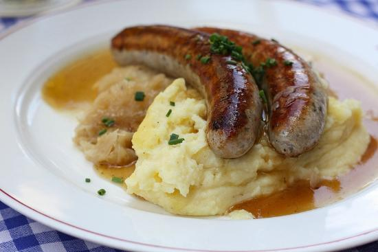 Augustiner Am Gendarmenmarkt Sausages Mashed Potatoes And The Best Sauer Ever