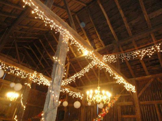 Springdale Farm: Reception in the Barn!