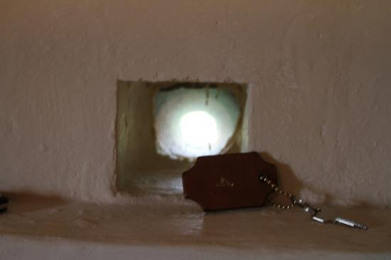 Castello di Spaltenna Exclusive Tuscan Resort & Spa: tiny windows in our room and key