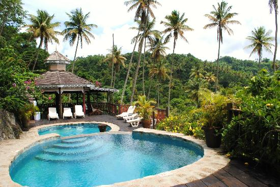 Fond Doux Plantation & Resort: Three-level pool