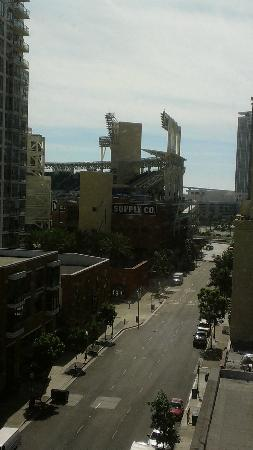 Kimpton Solamar Hotel: View from my 8th floor room, looking at the stadium