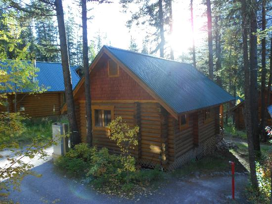 Typical Cathedral Mountain Lodge cabin