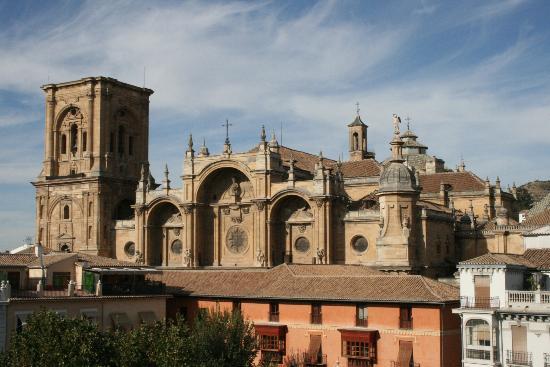 Los Tilos: Vue de la terrasse de l'hôtel