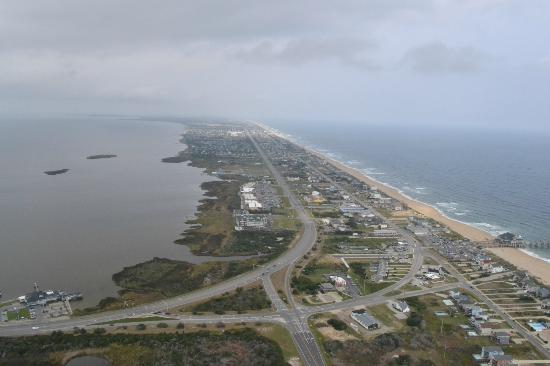 Outer Banks view via Coastal Helicopters