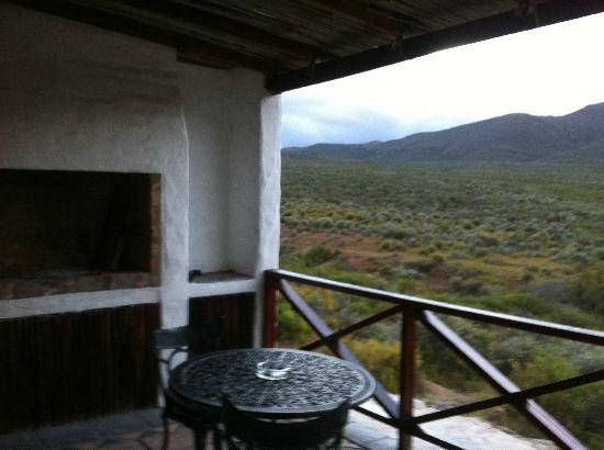 African Game Lodge: Braai on stoep